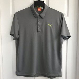 Puma Mens Golf Polo Shirt Grey M Medium